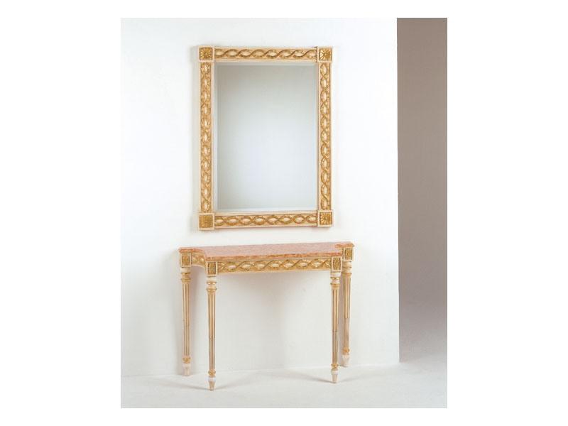 Art. 710/S, Miroir classique, de style Louis XVI, finition feuille d'or
