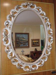 Art. 76/O, Miroir ovale pour la maison, stile classique, cadre sculpt�