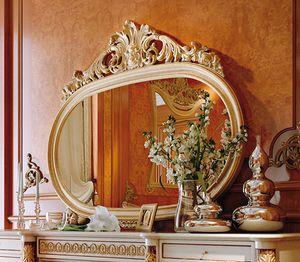 Art. 810T/S, Miroir ovale classique avec cadre sculpté