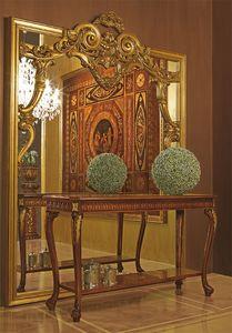 Art. 893, Grand miroir avec cadre en bois sculpté à la main