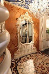 Art of Decor Miroir, Classique main miroir sculpté, avec des finitions en or