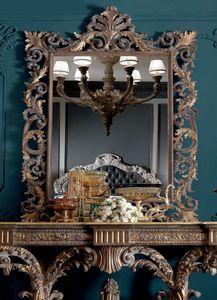 Barocchetto Art. SPE06, Miroir de style baroque avec sculptures