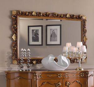 Chippendale miroir rectangulaire, Miroir classique, cadre sculpté
