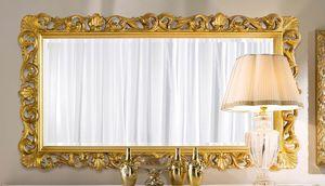 Chippendale miroir rectangulaire or, Miroir doré, style classique
