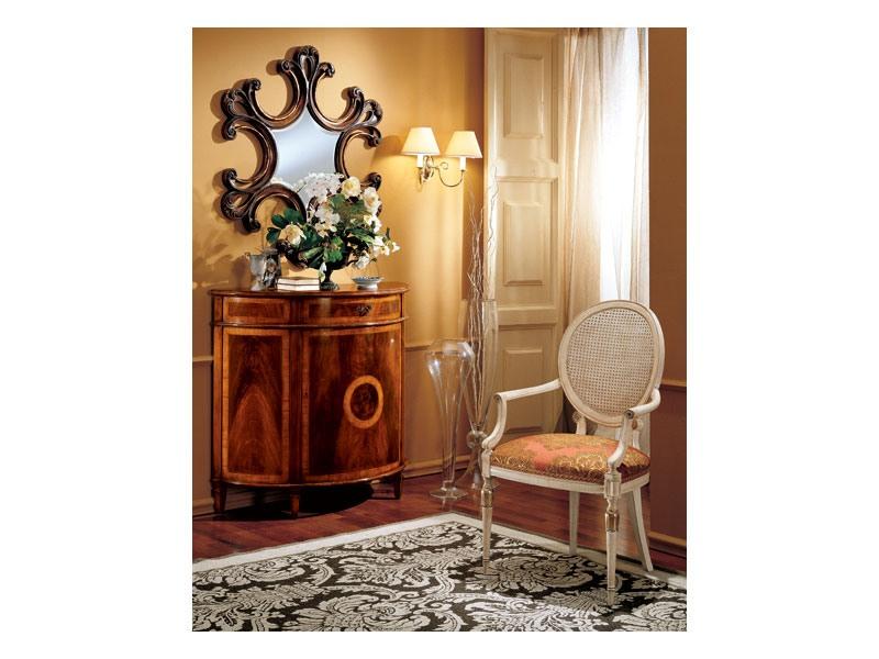 Complements mirror 862, Miroir mural avec cadre en bois décorée