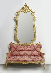 DIVAN AVEC MIROIR ART. SD 0012, Canapé avec miroir pour l'entrée dans le style de luxe classique