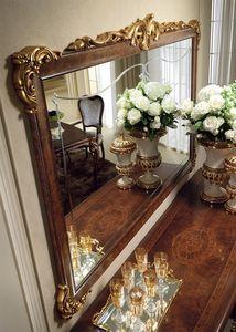 Donatello miroir, Luxe classique miroir, cadre sculpté et décoré à la main, pour chaque pièce de style néoclassique