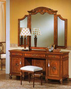 DUCALE DUCSP3E / miroir 3 éléments, Miroir pour les chambres, avec deux miroirs latéraux