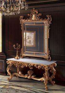 F463, Miroir doré et la console pour les salles classiques