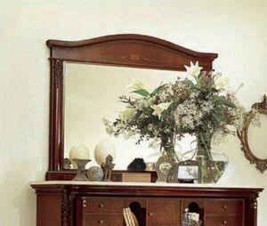 Gardenia miroir, Miroir rectangulaire en bois sculpt�