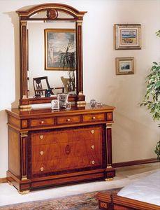 IMPERO / Mirror, Miroir avec cadre en bois sculpt�, style classique