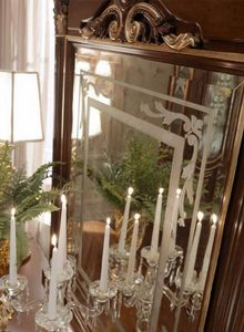 Luigi XVI Art. SPE03/LU/120, Miroir décoré à la main avec relief effet doré