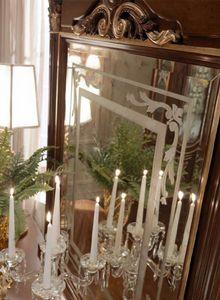 Luigi XVI Art. SPE03/LU/120, Miroir d�cor� � la main avec relief effet dor�
