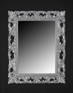 Memo, Miroir de style classique avec cadre en bois laqu�