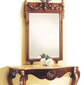 Miroir 2935, Miroir avec cadre en bois sculpté