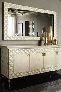SIPARIO miroir, Miroir de style classique avec cadre matelassé