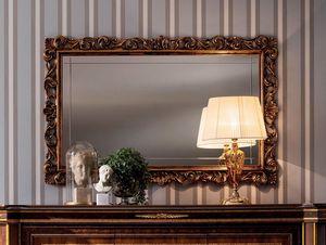 Modigliani miroir sculpté, Miroir avec cadre précieux