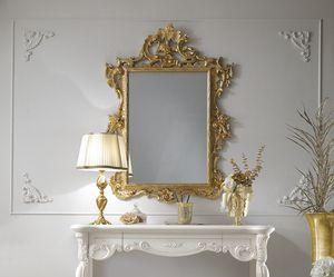 Puccini Art. 110, Miroir classique, finition feuille d'or