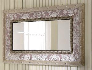 QUEEN miroir 2, Miroir avec cadre en tissu