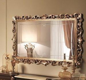 Sinfonia miroir d'or, Miroir incrusté de feuilles d'or, dans le style du XVIIe siècle
