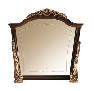 Sinfonia miroir, Miroir en bois avec des ornements d'or, fait main