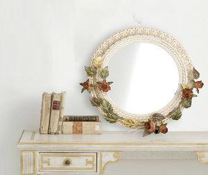 SP.7640, Miroir rond avec des décorations florales