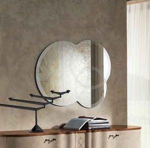 SP19 Iride miroir, Miroir sérigraphié formé par 3 cercles qui se chevauchent