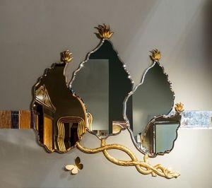 SP30 miroir, Feuilles miroir de forme avec finition à la feuille d'or