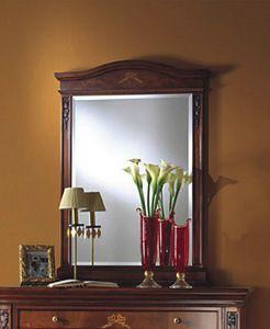 Voltaire miroir, Miroir classique en bois avec verre biseauté