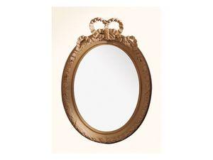 Wall Mirror art. 103, Miroir avec cadre en bois, Style Louis XVI