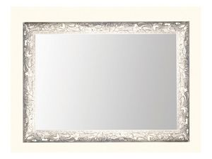 Wall Mirror art. 104, Miroir avec cadre en bois décoré de feuilles de vigne