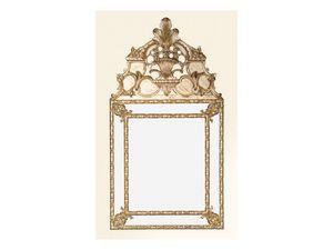 Wall Mirror art. 105, Miroir carré avec cadre décoré, style Louis XIV