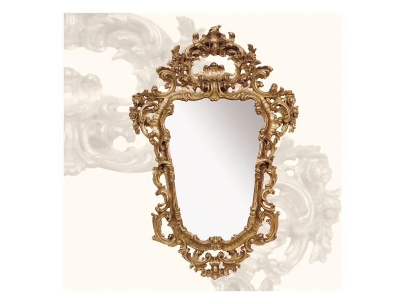 Wall Mirror art. 113, Miroir avec cadre en bois, style rococo
