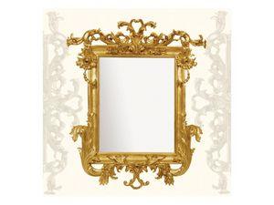 Wall Mirror art. 114, Miroir avec moulures en bois sculpt�