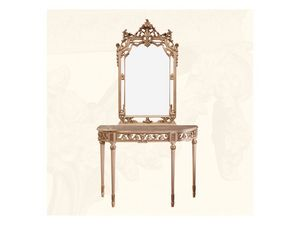 Wall Mirror art. 117/a, Miroir de style classique avec des finitions en ivoire et or