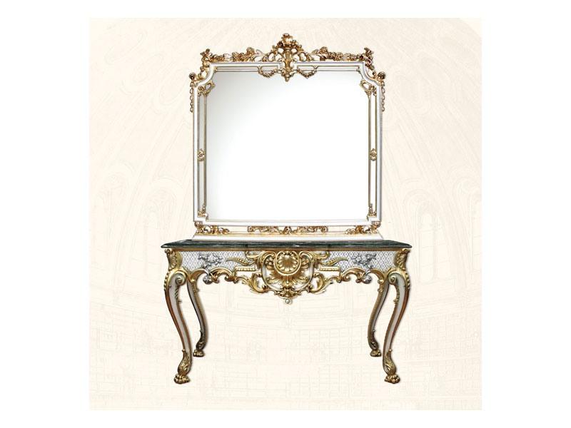 Wall Mirror art. 117/b, Miroir carré, style Louis XV