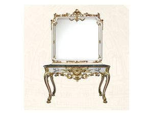 Wall Mirror art. 117/b, Miroir carré, style Louis XV