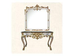 Wall Mirror art. 117/b, Miroir carr�, style Louis XV