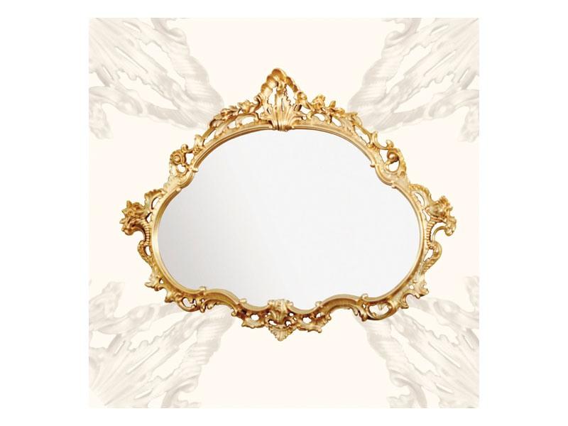 Wall Mirror art. 120, Miroir avec cadre en bois, style baroque tardif