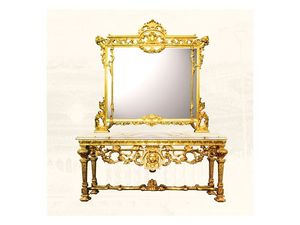 Wall Mirror art. 126/b, Grand miroir carré, style Louis XIV