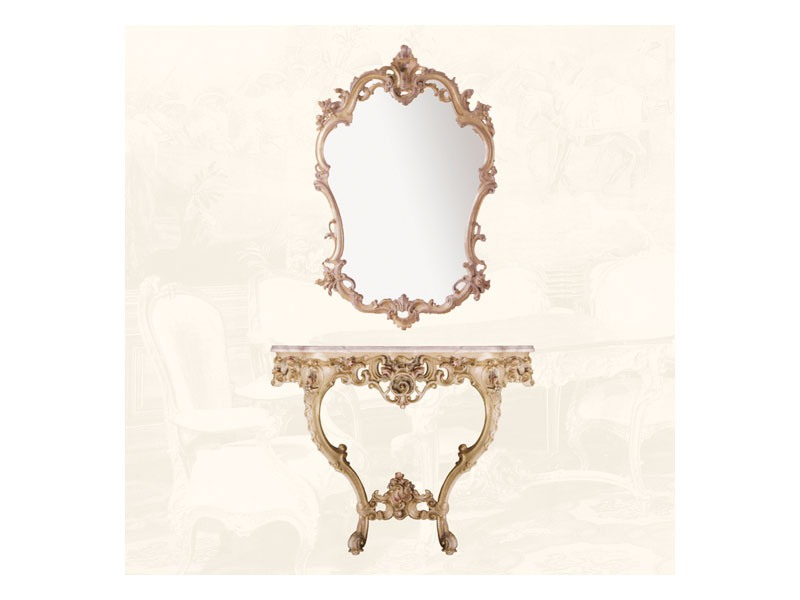 Wall Mirror art. 127, Miroir de style Louis XV, pour les entrées et salles de séjour