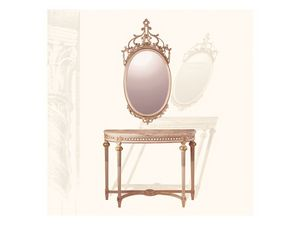 Wall Mirror art. 134, Miroir ovale avec moulure sculpt�e, de style Louis XVI