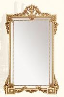 Wall Mirror art. 135, Miroir rectangulaire avec cadre en bois de tilleul