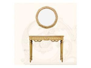 Wall Mirror art. 136, Miroir rond avec cadre, style Louis XVI