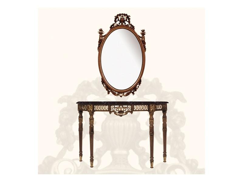 Wall Mirror art. 139, Grand miroir, décoré de feuilles et de fleurs