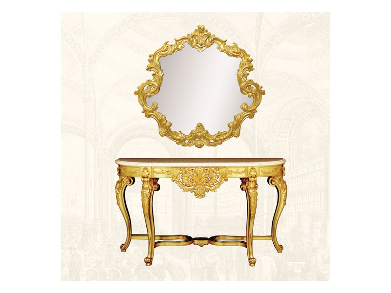 Wall Mirror art. 151, Miroir avec cadre décoré, la forme sinueuse