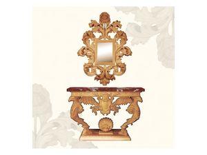 Wall Mirror art. 156, Miroir avec grand cadre orné de feuilles