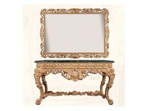 Wall Mirror art. Impero, Miroir horizontal et rectangulaire, avec cadre