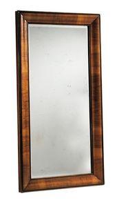 Warhol RA.0834, Miroir Noyer avec cadre en forme avec le dossier en noyer et patiné miroir 4 mm