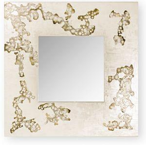 Africa Flowing, Miroir carré avec cadre décoratif